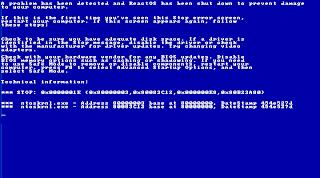BSOD Windows ReactOS