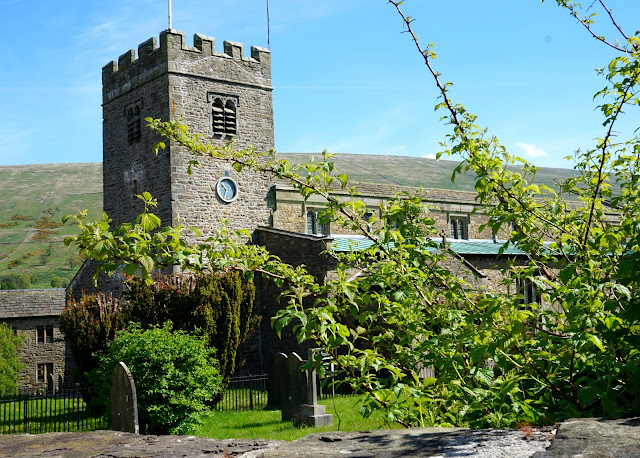 exterior of church in dent, yorkshire