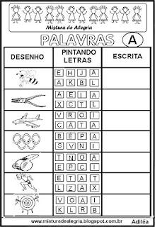 Sequência alfabética alfabetização letra A