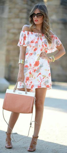 Off-Shoulder-printed-Dress |women-fashion