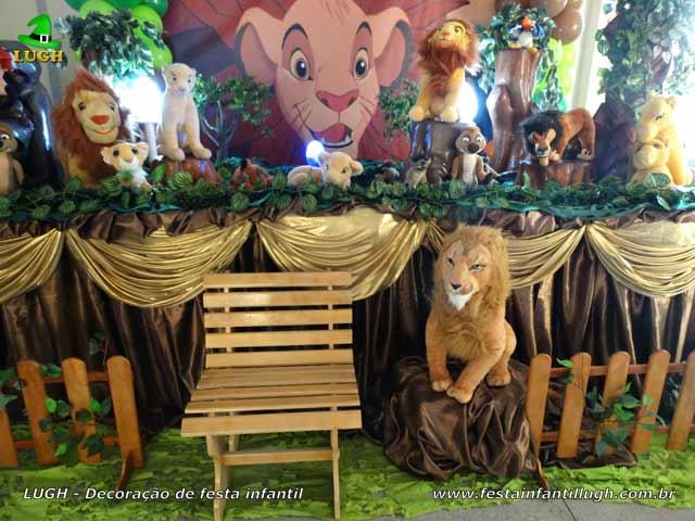 Decoração Rei Leão para aniversário infantil
