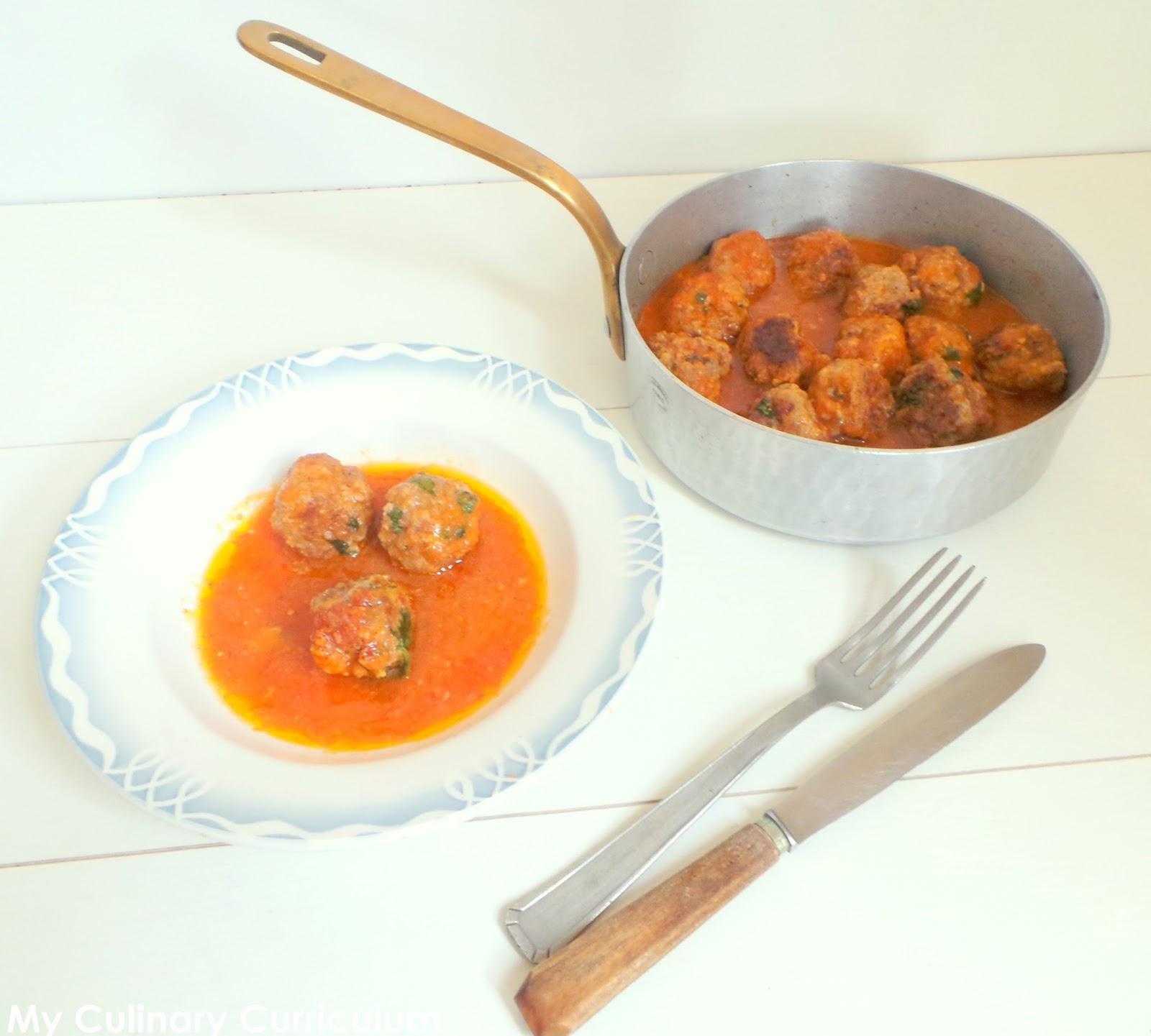 ... : Boulettes de bœuf aux merguez (Beef and merguez meatballs