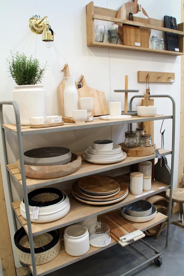 Messeeindrücke von der Ambiente 2016 bei Hübsch Interior, Küchenuntensilien und Geschirr aus Holz