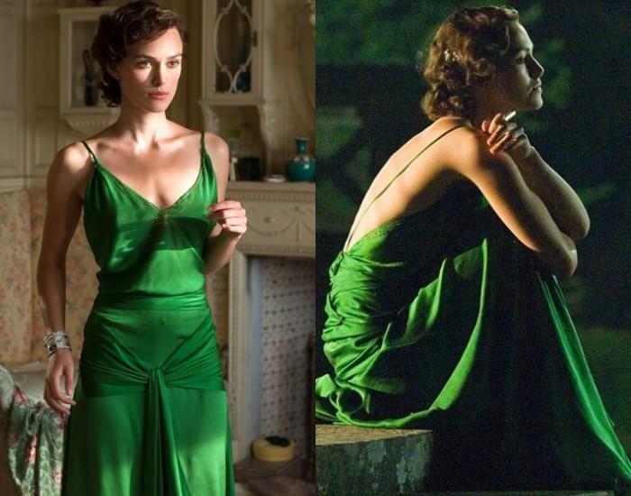 robe verte de Keira Knightley vintage