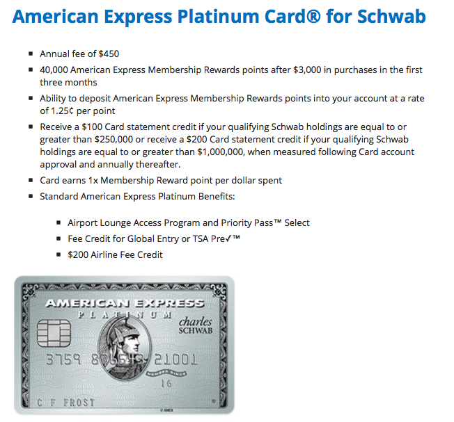 All the Right Points: New Charles Schwab American Express