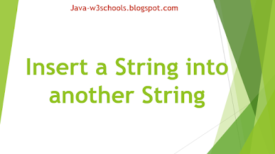 Insert a String into another String