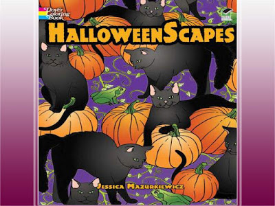 halloween scapes coloring pages for adult