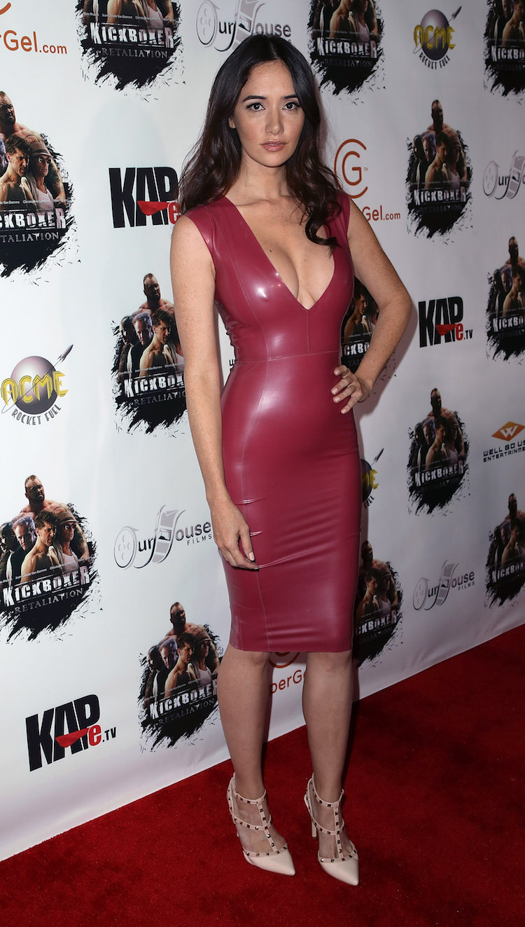 Holly Halston Latex intended for lovely ladies in leather: sara malakul lane in a latex dress