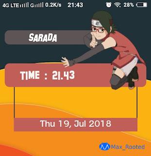 Template Zooper Widget Sarada ( Team 7 )