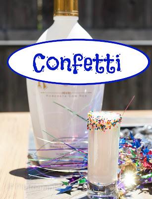 confetti cocktail, rum chata, cake vodka, confetti recipe, confetti image, confetti picture, confetti photo