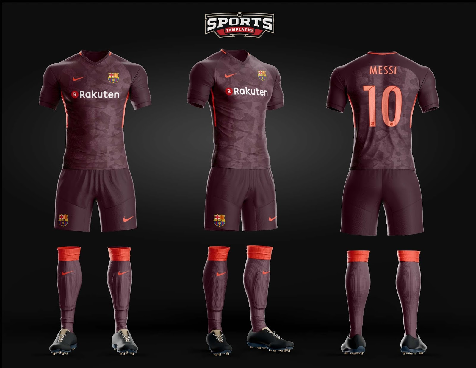 775eb25b056 Once again made by long-term Barcelona jersey maker Nike, the Barcelona 2017 -18 third shirt will feature new main sponsor Rakuten for the first time.
