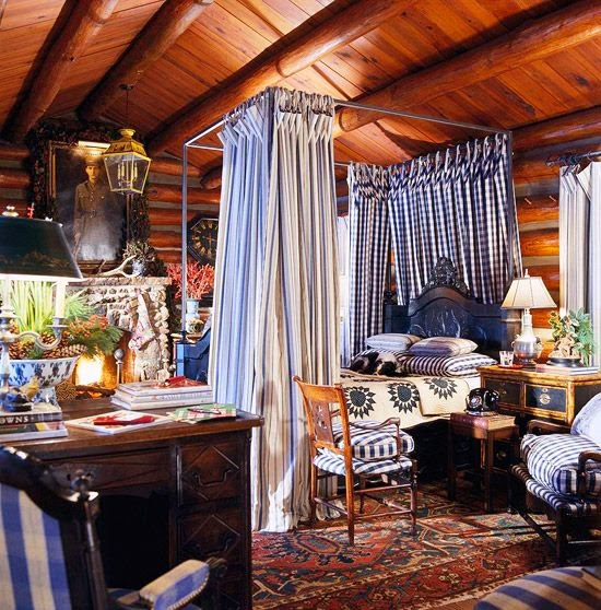 Charles Faudree S Country Cabin: Eye For Design: Decorate With Blue And White Buffalo Plaid