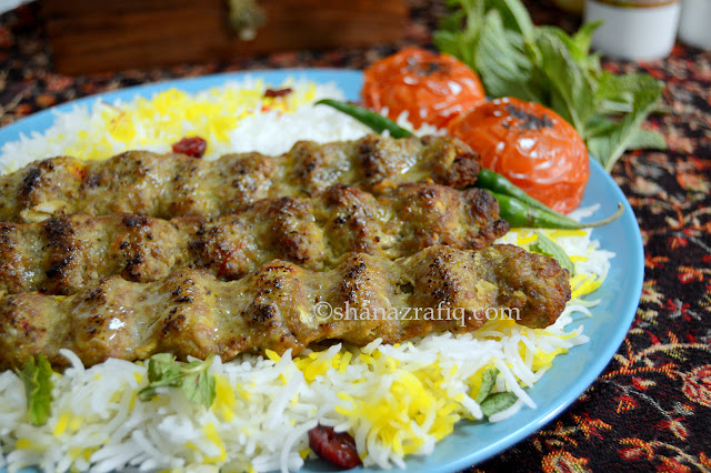 Love to cook kabab koobeideh with saffron rice persian for Afghan kebob cuisine menu