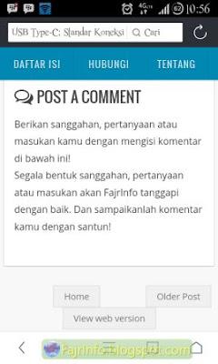 Kolom Komentar Blog Tidak Muncul Pada Tampilan Mobile