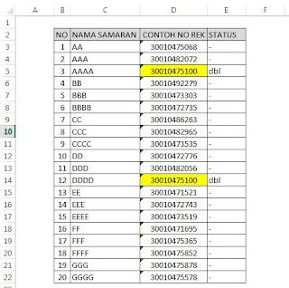 mencari data yang sama di excel - #berbagi73