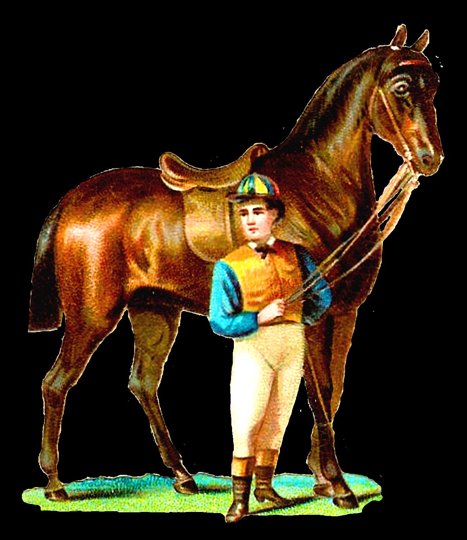Antique Images: Race Horse and Jockey Digital Clip Art ...