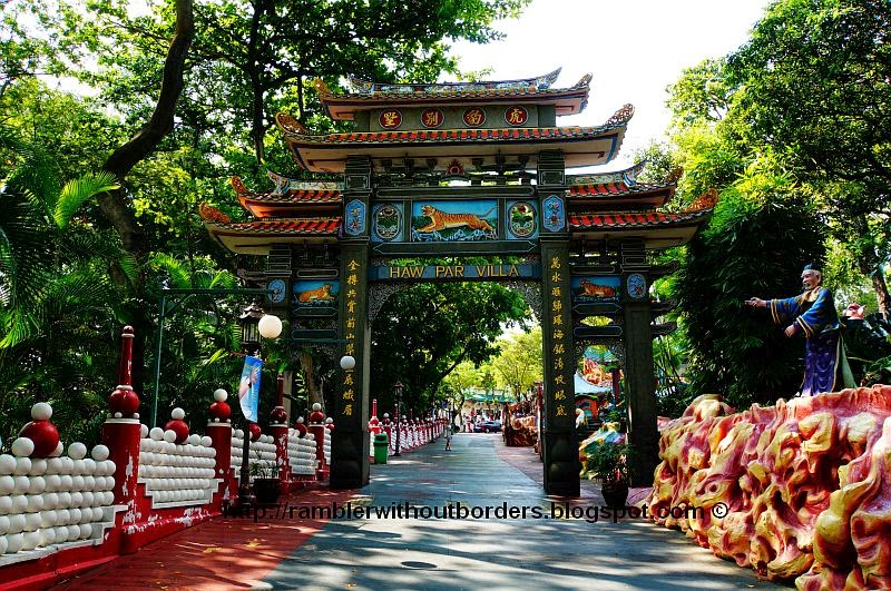 Entrance gate to Haw Par Villa, Singapore
