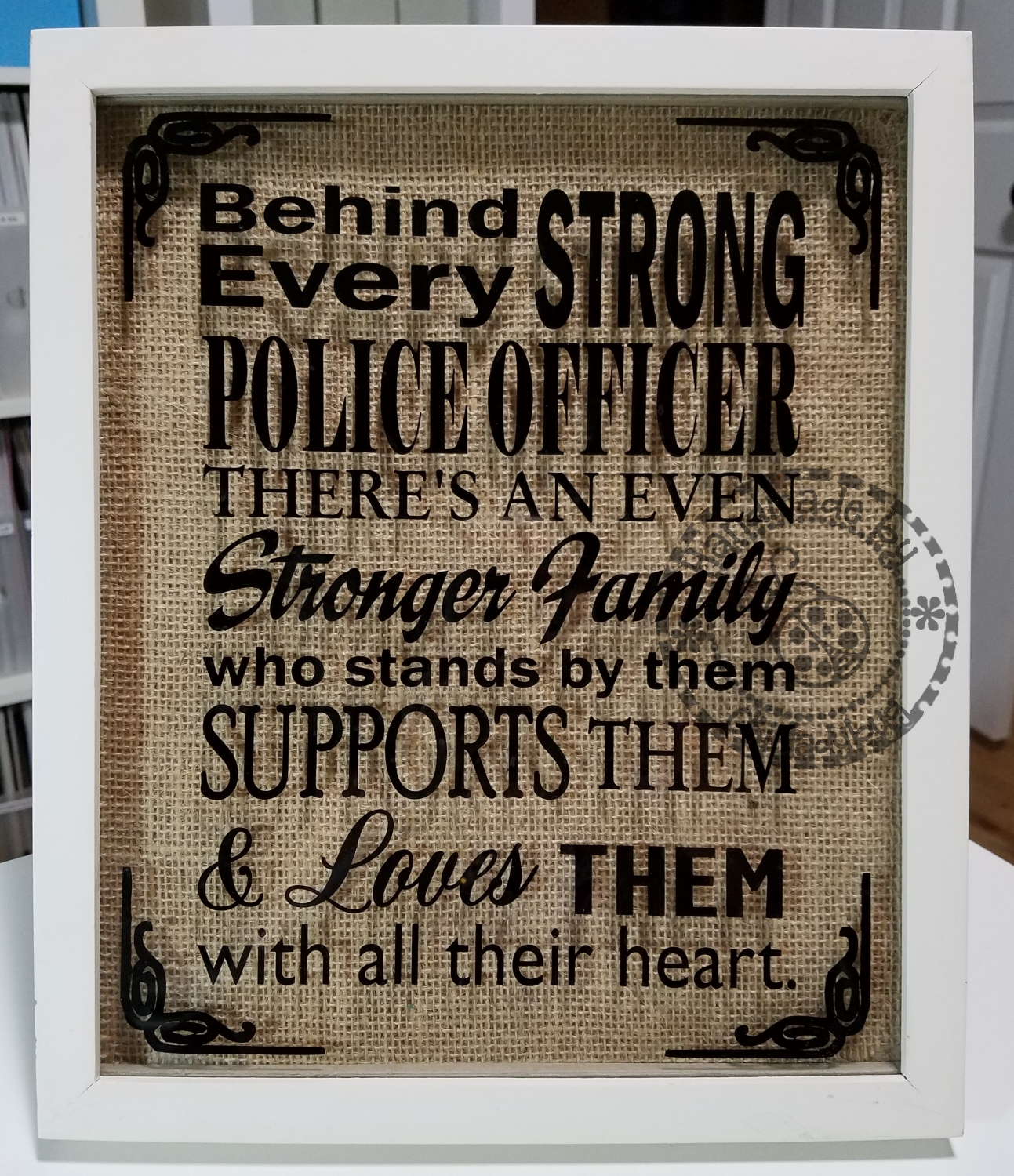 Okieladybugs scrap n more police officer quote file available i messaged the wife and asked about what color frame and was glad when she said off white because i had picked up some of these frames at walls quite jeuxipadfo Choice Image