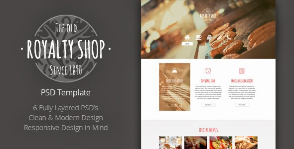 Restaurant Website Template 2014