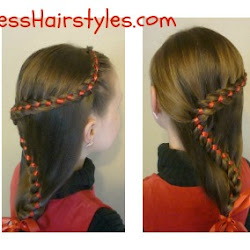 Enjoyable Candy Cane French Braid With Ribbon Hairstyles For Girls Short Hairstyles For Black Women Fulllsitofus