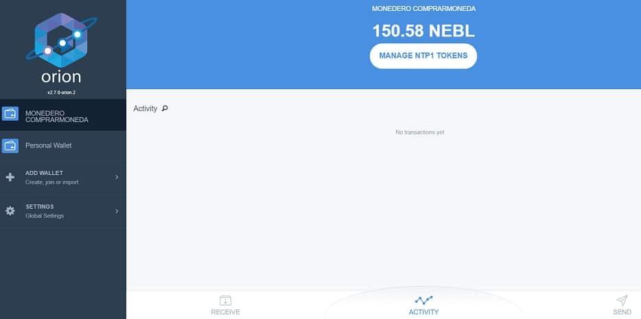 Saldo Actualizado NEBLIO NEBL