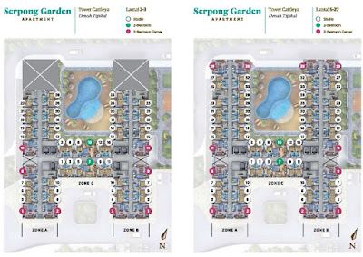 Floorplan Serpong Garden Apartment Cattleya