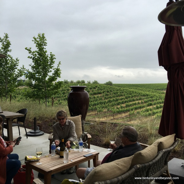 patio tasting at Matchbook Winery in Zamora, California