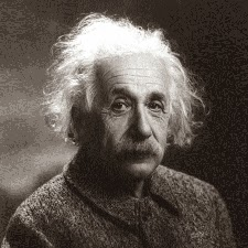 Photo d'Albert Einstein en 1947