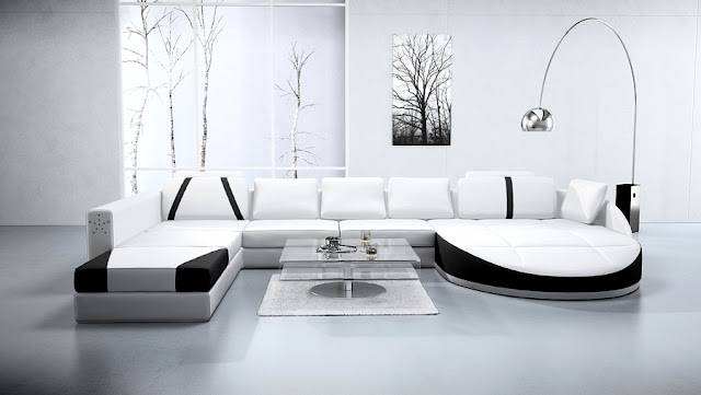 Abbyson Living Braylen White Leather Sofa