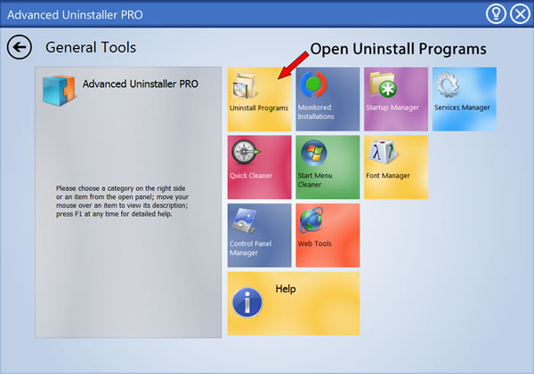 Press the Uninstall Programs feature