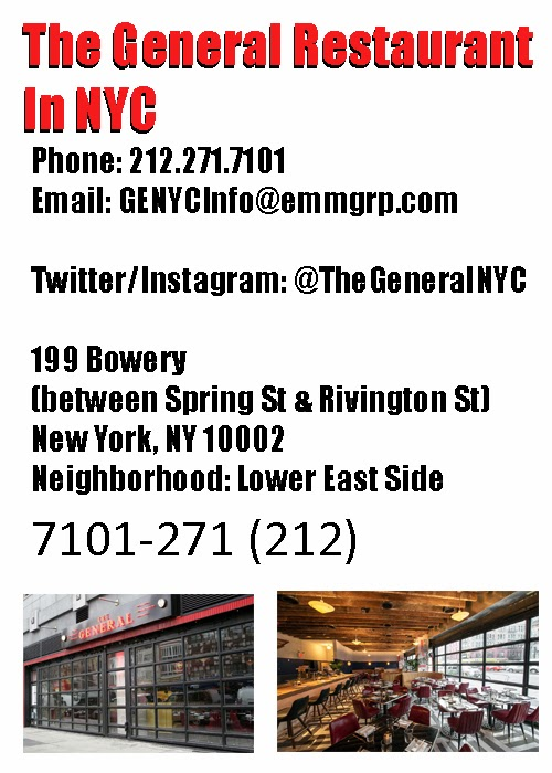 The General Restaurant NYC
