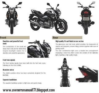 Owners Manual Download: Suzuki Inazuma 250 Repair manual