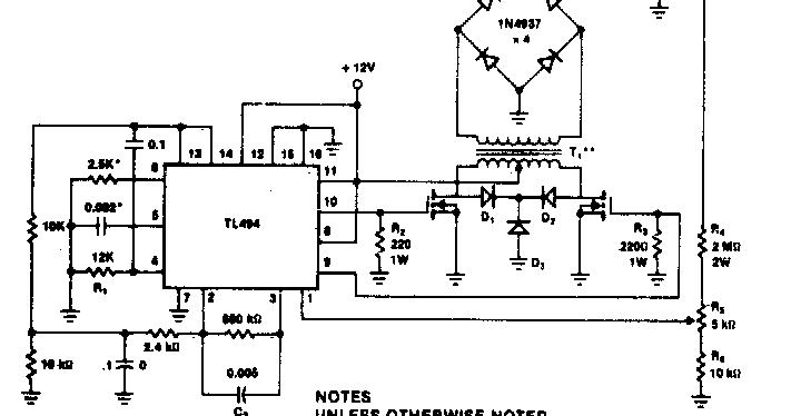 2v to 25v power supply schematic