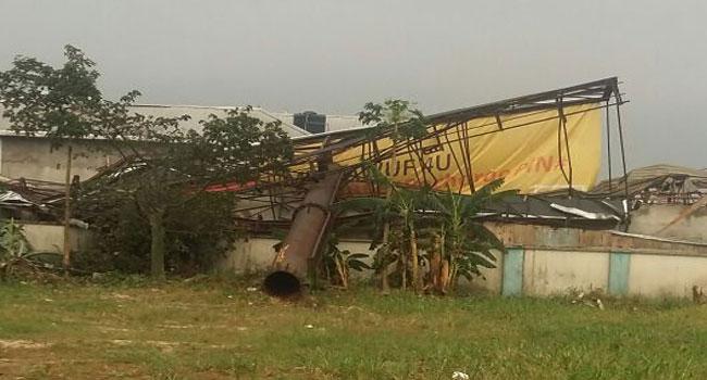 telecom mast falls houses port harcourt