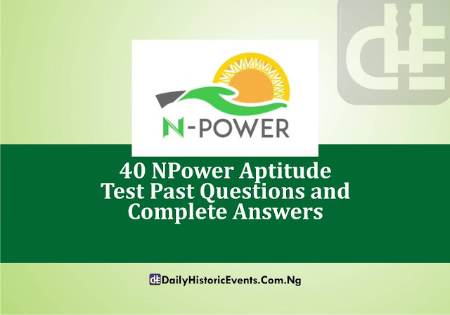 40 NPower Aptitude Test Past Questions and Complete Answers