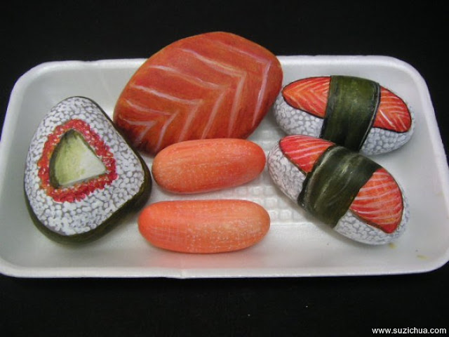 Stones Painting Food Design Ideas Projects Art Craft Ideas