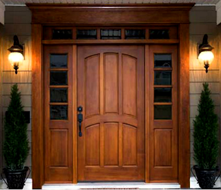 Contoh Desain Pintu Utama Rumah Dari Kayu Jati