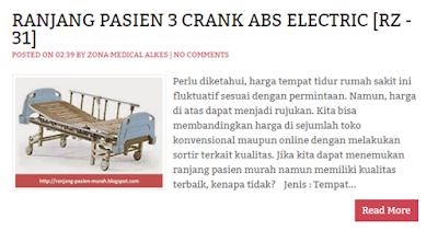 Ranjang Rumah Sakit 3 Engkol ABS Elektrik RZ-31