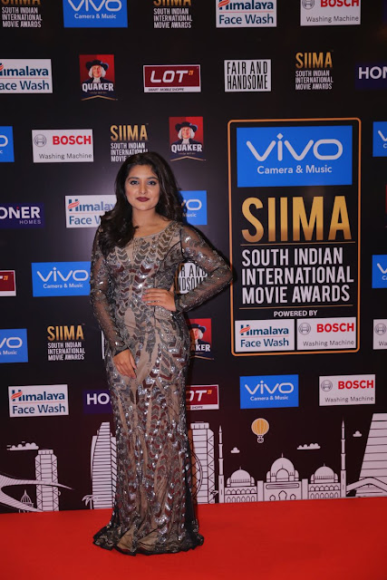 Nivetha Thomas on the red carpet at SIIMA Awards 2017 Day 1