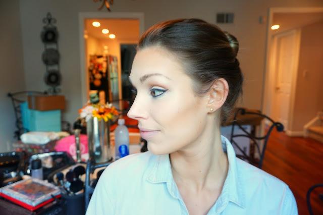 Wedding guest makeup
