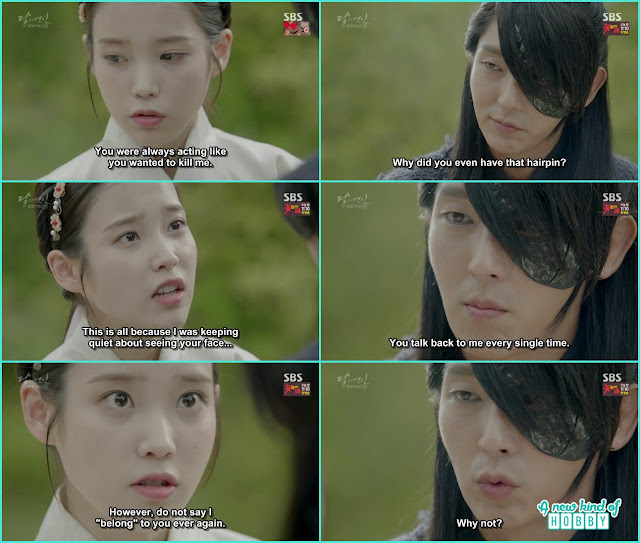hae soo ask 4th prince to clear misunderstanding as h called hae soo his person  - Moon Lovers: Scarlet Heart Ryeo - Episode 4 Review