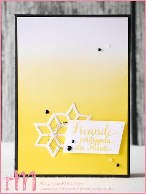 Stampin' Up! rosa Mädchen Kulmbach: Freundschaftskarte im Ombrelook mit Orientpalast und Thinlits Kreative Vielfalt