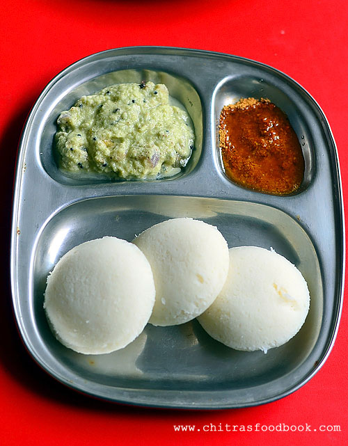 Coconut chutney with onion for idli