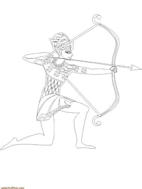 Arqueiro Antigo Egito