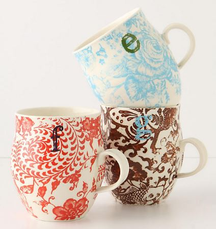 anthropologie home decor holiday gift guide christmas entertaining essentials cups