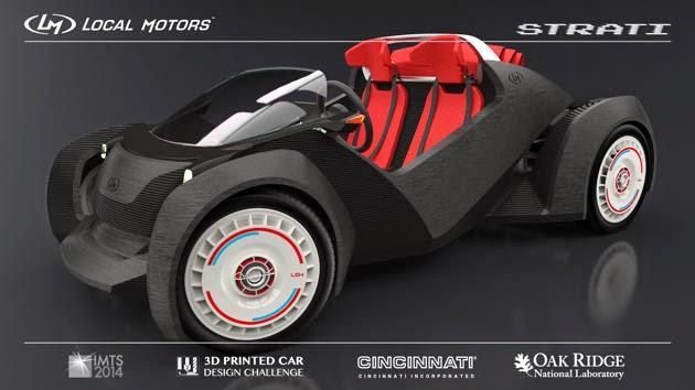 Mobil Dibuat Dengan Mesin Cetak 3D