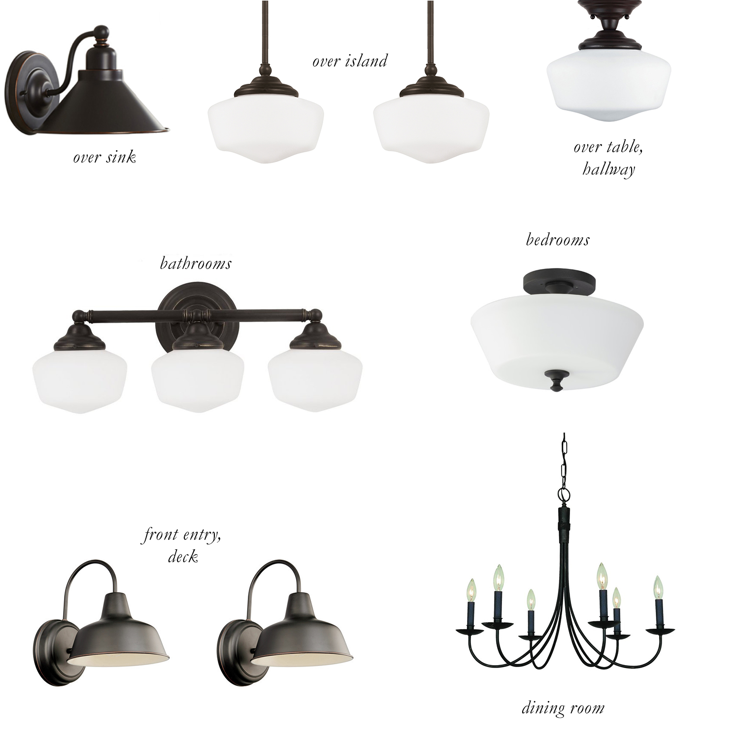 Building Our Home: The Light Fixtures | The Common Day