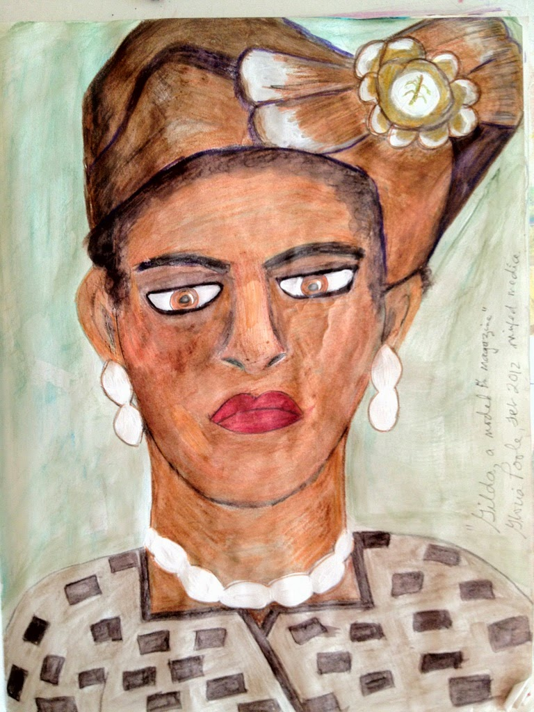 """Brown Lady"" ethnic sketch by Gloria Poole of Missouri"