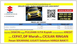 Suzuki Celerio Bandung 2016, Harga Suzuki Celerio 2016, Kredit Suzuki Celerio 2016