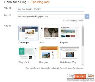Hướng dẫn làm blogspot